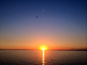 sunset 300x225 - 房総 マザー牧場〜養老渓谷 - GSX-S1000Fツーリング