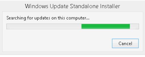 windows update スタンドアローンインストーラーがフリーズする