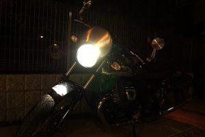 DSC09403 300x200 - Moto Guzzi V7 Ⅲ Anniversario LED化計画 - ヘッドライト編